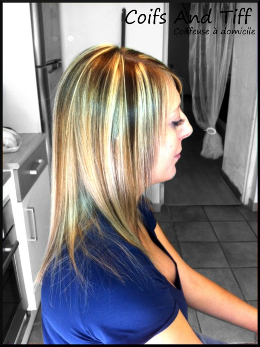 Bi couleur cheveux mi long